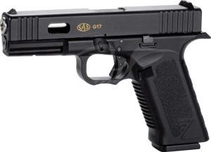 Пистолет пневматический SAS G17 (Glock 17) Blowback. Корпус — пластик, код 2370.26.57