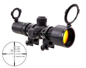 Прицел оптический NcStar Rubber 3-9×42 P4 Sniper, код SEECR3942R