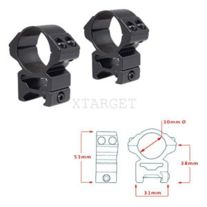 Кольца Hawke Matchmount 30mm/Weaver/High, код 921000