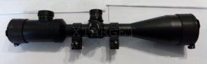 Прицел ZOS 3-9×50 E с кольцами ласта, средние, подсветка, с блендой, сетка Mil Dot, код 3950