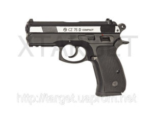 Пистолет пневм. ASG CZ 75D Compact 4,5 мм вставка никель, код 2370.25.21