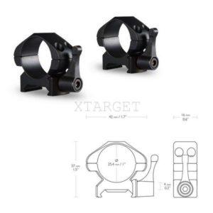 Быстросъемные кольца Hawke Precision Fast Release 25.4 мм Weaver, низкие, код 924775