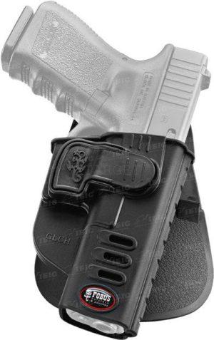 Кобура Fobus для Glock-17/19 с поясным фиксатором, поворотная, замок на скобе,, код 2370.23.29
