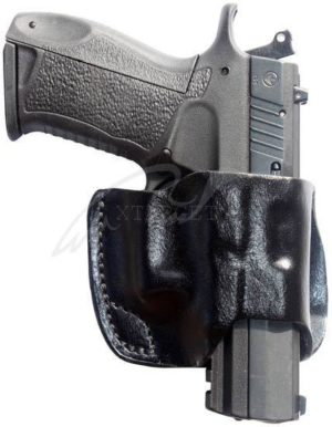Кобура Front Line поясная компактная, кожа, для Glock 17, 22, 31, код 2370.20.49