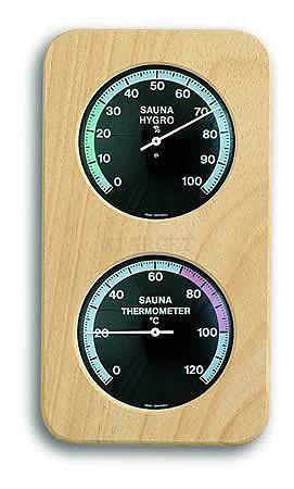 Термогигрометр для сауны TFA, d=90/90 мм, 240х129 мм, код 401004