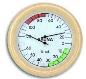 Термогигрометр для сауны TFA, дерево, 220х220 мм, код 401006