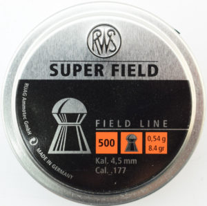 Пули RWS Super Field Kal. 4.52 мм , 500шт. , 0.54гр., код um