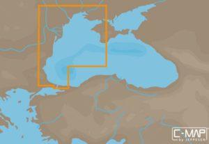 Карта NAVIONICS С-МАР, Западная часть Черного моря, код EM-N120