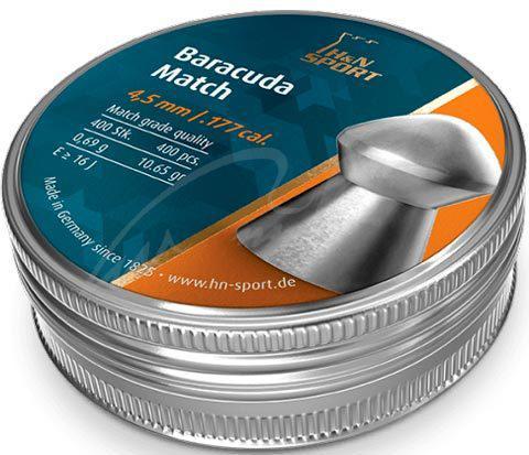 Пули свинцовые H&N Baracuda Match, 4.52 мм , 0.69 г, 400 шт/уп, код 1453.02.73