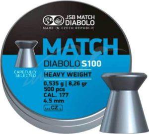 Пули пневматическиеJSB Match HW, 4.49 мм , 0.535 г, 500 шт/уп, код 1453.05.67
