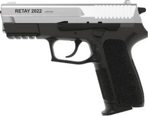 Пистолет стартовый Retay 2022, 9 мм, хром, код 1195.06.12