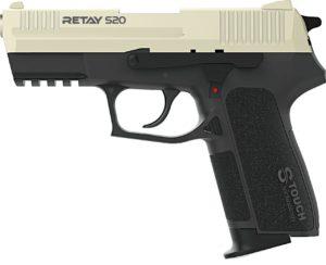 Пистолет стартовый Retay S20, 9мм, сатин, код 1195.06.18