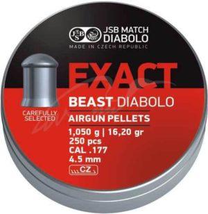 Пули пневматические JSB Diabolo Exact Beast, 4.52 мм , 1.05 гр. (200шт/уп), код 1453.05.71