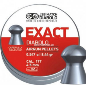Пули пневматические JSB Diabolo Exact, 4.5 мм , 0.547 гр. (200шт/уп), код 1453.05.68