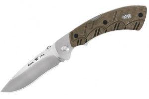 Нож Buck Open Season® Folding Skinner, green micarta, код 557ODS