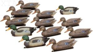 Набор Hunting Birdland: 3 селезня, 9 уток, якорные устройства, код 37.40.16