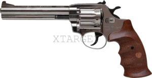 Револьвер флобера Alfa mod.461 4 мм никель/дерево, код 1431.00.54