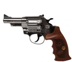 Револьвер флобера Alfa mod. 431 4 мм никель/дерево, код 1431.00.58