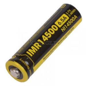 Аккумулятор литиевый Li-Ion IMR 14500 Nitecore 3.7V (650mAh), код 6-1185