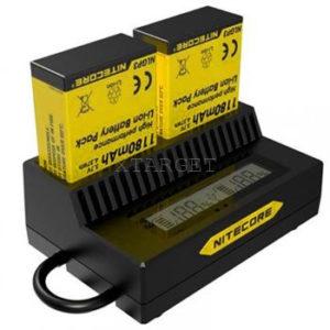 Зарядное устройство Nitecore UGP3 для GoPro Hero 3 (AHDBT- 302/301/201), код 6-1162