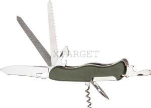 Нож PARTNER HH062014110 на 9 инстр. оливковый, код 1765.01.81