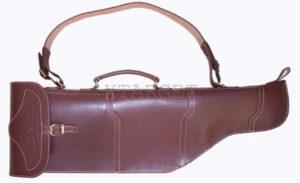 Чехол кожаный классический 84 см для оружия с откидывающими стволами, код 2100