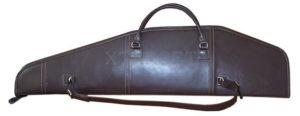 Кожаный чехол длина 120 см для оружия с оптикой, код 2104