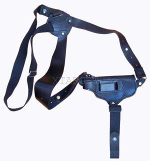 Кобура оперативная кожаная универсальная с комбинированным креплением (со скобой), код 1003