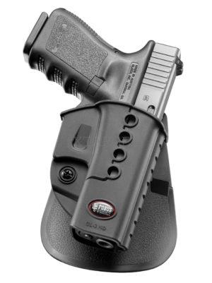 Кобура Fobus для Glock 17,19, Форт-17 с поясным фиксатором, левостороння, код 2370.23.12