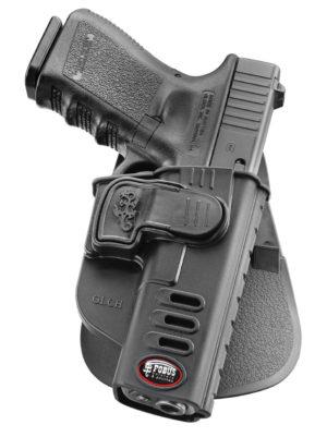 Кобура Fobus для Glock-17/19, Форт-17 с креплением на ремень, поворотная, замок на скобе, код 2370.23.27
