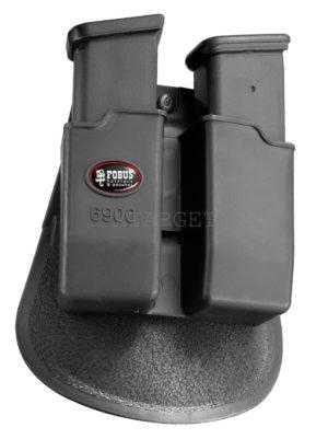 Подсумок Fobus для двух магазинов Glock 17/19, с поясным фиксатором, код 2370.23.55