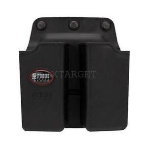 Подсумок Fobus для двух магазинов Glock 17/19, с креплением на ремень, поворотный, код 2370.23.57