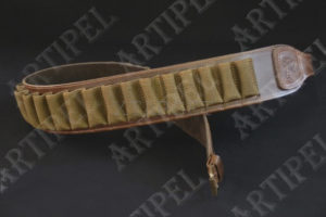 Патронташ  Artipel поясной кожаный кал.12/26 отделений, код CA05/12XL