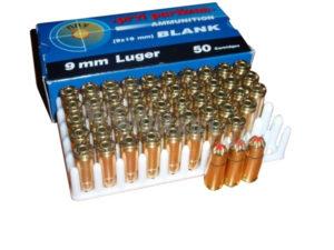 Патрон холостой 9 мм Luger (9×19 мм) BLANK, код 14592