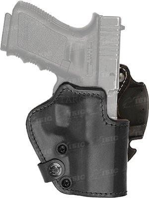 Кобура Front Line LKC для Glock 26/27/28. Материал – Kydex/кожа/замша. Цвет – черный, код 2370.22.35