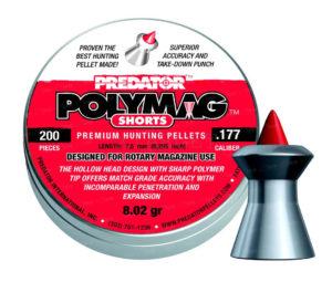 Пули пневматические JSB Polymag Shorts 4,5 мм, 0,52гр. 200шт, код 1453.05.63