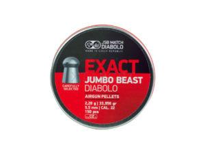 Пули пневм JSB Exact Jumbo Beast, 5,52 мм , 2,2 г, 150 шт/уп, код 1453.05.52