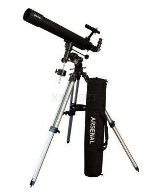 Телескоп Arsenal 90/800, EQ3A, рефрактор, с сумкой, код 908EQ3