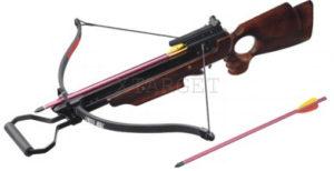 Арбалет Man Kung MK-150A3W, Рекурсивный, винтовочного типа, деревянный приклад ц:коричневый, код 100.00.41