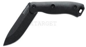 Нож Ka-Bar Short Becker Drop Point, черный, доп. накладки рукояти, нейлоновый чехол, код BK16
