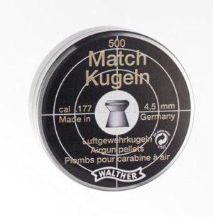 Пульки 4.5 мм Walter Diabolo Match 500 шт. , 0.52 гр, код 4.1951