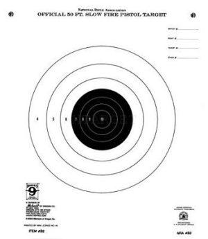 Мишень пистолетная Hoppe's 10,5″х12″ 20шт. в упаков, код B2