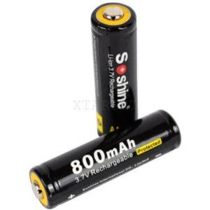 Аккумуляторная батарея Soshine LiPo 14500 3.7V 800mAh, код 2370.15.97