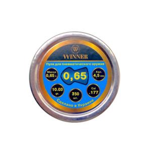 Пульки WINNER 0.65 гр.(350 шт) круглая, код 23885