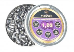 Пули Winner 1.03 гр., 250 шт., круглые, код 23886