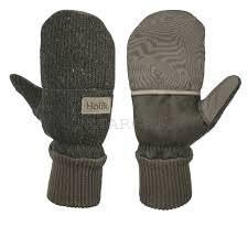 Двухслойные утепленные комбинированные рукавици HOLIK MANDY, р.10, код 8346