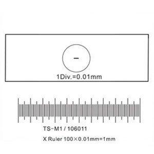 Калибровочная линейка SIGETA X 1мм/100 Div.x0.01мм, код 65654