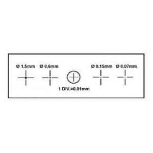Калибровочная линейка SIGETA X&Y 1мм/100 Div.x0.01мм, код 65655