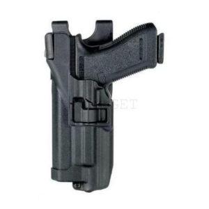 Кобура BLACKHAWK SERPA® Level 3 Auto Lock, поясная, для Glock 17/19/22/23/31/32 левша, полимерная ц:черный, код 1649.12.04
