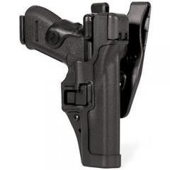 Кобура BLACKHAWK SERPA® Level 3 Auto Lock, поясная, для Glock 17/19/22/23/31/32 полимерная ц:черный, код 1649.12.01